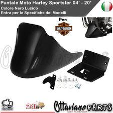 PUNTALE SPOILER AIR DAM x HARLEY Sprtster roadster nightster r NERO LUCIDO M300