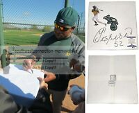 Yoenis Cespedes Oakland A's Signed Autographed Baseball Base Proof Beckett BAS