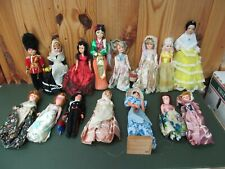 Large lot of 7-10� International Travel Souvenir Ethnic Dolls