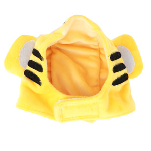 Yellow Pet Costume Hat Cloth Cat Hat Tiger Pattern Pet for Cat Photo Props Dog