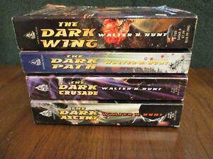 Lot of 4 Walter H. Hunt Paperbacks PB (The Dark Wing, Path, Crusade, Ascent)