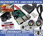 Raspberry Pi 3 RetroPie 32GB Arcade SNES N64 Nintendo SEGA PSX 2.5A Power Switch