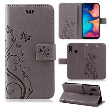 Samsung Galaxy A20e Sac Portable Téléphone Étui Protection Fleurs Couverture