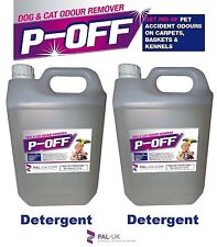 2 X 5L P-OFF PET URINE SMELL ODOUR REMOVER - WEE SMOKE FAECES POO - DETERGENT