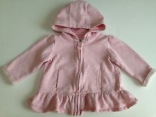 BABY GIRL'S HOODED JACKET (MATALAN) 9-12 MONTHS