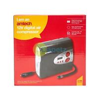 Amtech 12V Preset Digital Air Compressor LED Light Wheel Tyre Inflator Pump