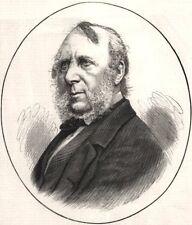 The late Mr. George Cruikshank. Portraits, antique print, 1878