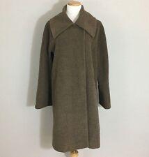 Hilary Radley Brown Suri Alpaca Wool Blend Long Swing Coat, Size 10