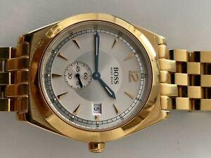 Hugo Boss Herren Armband Uhr Gold original Suisse made