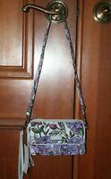 Vera Bradley Iconic RFID All In One Crossbody Lavender Meadow wallet NEW