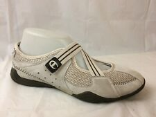 248aac95ed1 Champion Womens 8 M Mary Jane Ballet Flats Shoes Beige Suede Leather Mesh  Sport