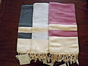 Turkish Ultra Soft Cotton Towel Peshtemal Hand Loomed Beach Bath Pestemal Towel