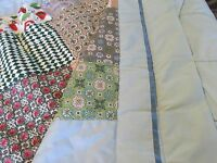 Vintage Hand Made Quilt 1960's 1970's Fabric
