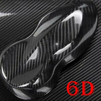 Car 6D Black Carbon Fiber Vinyl Car Wrap Sheet Roll Film Sticker Decal Paper