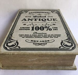 Fake Faux Book Box STASH BOX Distressed Hide your treasures Realistic Looking!