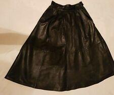 *Madeleine *Damen Rock Gr.38,Gr.36/38, Lederrock, echt Leder ,schwarz,