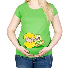 Maternity S-XXL Due In April Baby Gift Cotton Spring Easter Top Funny T-Shirt
