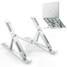 Ergonomic Laptop Stand Height Adjustable Folding Aluminium Holder Slip-proof