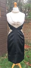 Phase Eight Dress - Part Silk Cocktail Dress - Black & Nude - Size 12 - Stunning