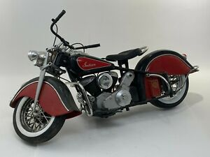 Vintage Ray Road Rider Collection 1948 Indian 1:6 Black And Red
