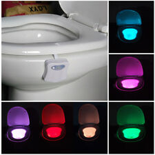 Body Sensing Automatic LED Motion Sensor Night Lamp Toilet Bowl Bathroom Light
