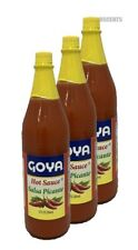 3 Pack Goya Single Regular Hot Sauce Salsa Picante Regular 12 Fluid Ounces