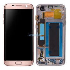 For Samsung Galaxy S7 Edge G935F LCD Touch Screen Display Frame Rose Gold+tool
