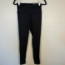 NWT Victoria Sport Black Knockout Tights Full Length High Rise Long Small Petit