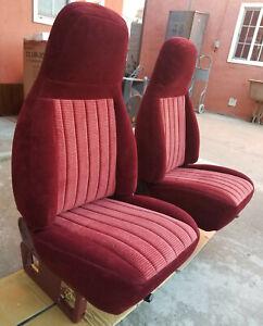 Chevy truck seats maroon burgundy 454SS Silverado 1500 Sport 454 SS style C1500