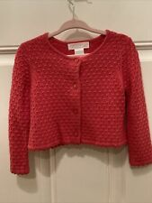 Janie And Jack Pink Coral Cardigan Size 12-18 Months Vintage 2013 Sweater Baby