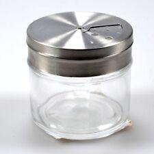 Gewürzstreuer Gewürz-Streuer Aromabehälter aus Glas mit Edelstahlverschluss edel