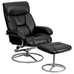Flash Furniture Black Bonded Leather Recliner, Black - BT-70230-BK-CIR-GG