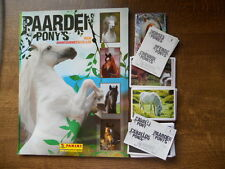 PANINI  EMPTY ALBUM + ALL 168 STICKERS OF PAARDEN & PONNY'S