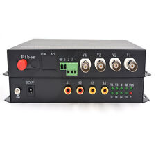 Multifunction 2 CH Bidirectional Video Audio Data Fiber Optical Media Converters