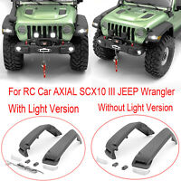 Front Fender W/NO LED Licht Upgrade für RC Auto AXIAL SCX10 III JEEP Wrangler