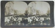 Washington Parade militaire USA États-Unis Photographie Stereo Vintage