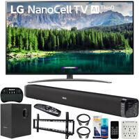 "LG 55"" 4K HDR Smart LED NanoCell TV w/ AI ThinQ (2019) Bundle w/ Soundbar & more"