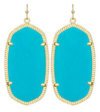 Kendra Scott Danielle Earrings in Turquoise Magnesite & Gold Plated