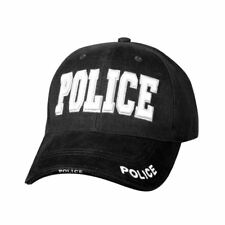 Rothco Low Profile Police Baseball Cap Hat Black #9383