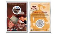 JOHN WAYNE - Americana OFFICIAL JFK Half Dollar U.S. Coin in PREMIUM HOLDER