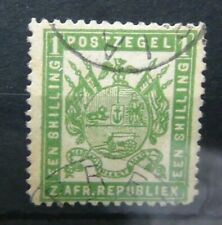 Transvaal 1872 1s Green Used