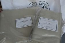 Williams Sonoma Linen Duvet Cover Queen Size + 2 King shams ~ Natural~100% Linen