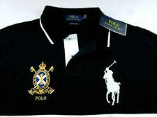 Ralph Lauren Polo Big Pony Crest Embroidered Custom Slim Fit Mens Mesh Shirt