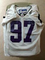 # 97  Baltimore Ravens Reebok Team Issued Player Worn Practice Jersey Size 60