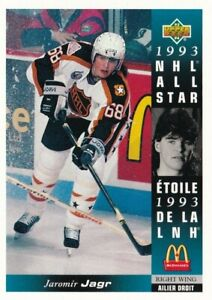 1993-94 UPPER DECK McDONALDS #17 JAROMIR JAGR NHL ALL STAR !! A63