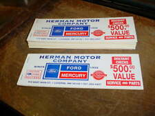 7 FORD/MERCURY NEW OLD STOCK BOOKS OF DISCOUNT CHECKS-LUVERNE MINNESOTA