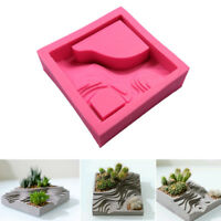 Succulent Plant Flower Pot Silicone Mold Gypsum Cement Bonsai DIY Mould Tool