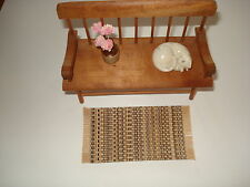 "Dollhouse - Brown Throw Rug with fringe 2"" by 4 """