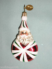 Radko Little Gem Santa Swirl Christmas Ornament Pre - Owned, No Tag No Box