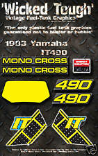 YAMAHA 1983 IT490 WICKED TOUGH DECAL GRAPHIC KIT